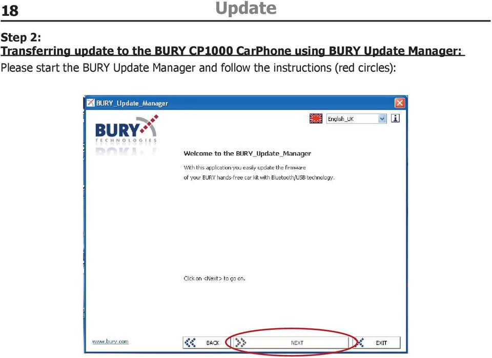 Manager: Please start the BURY Update