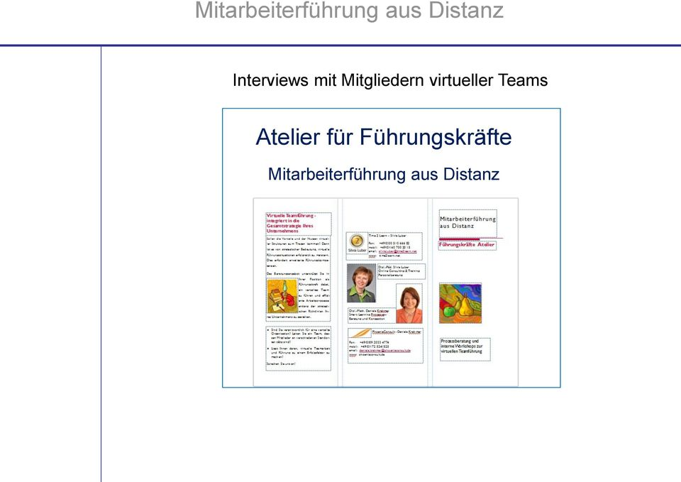 virtueller Teams Atelier für