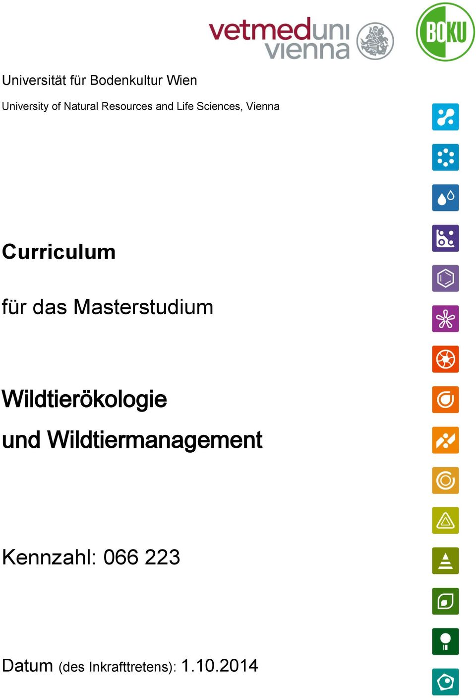 Masterstudium Wildtierökologie und Wildtiermanagement