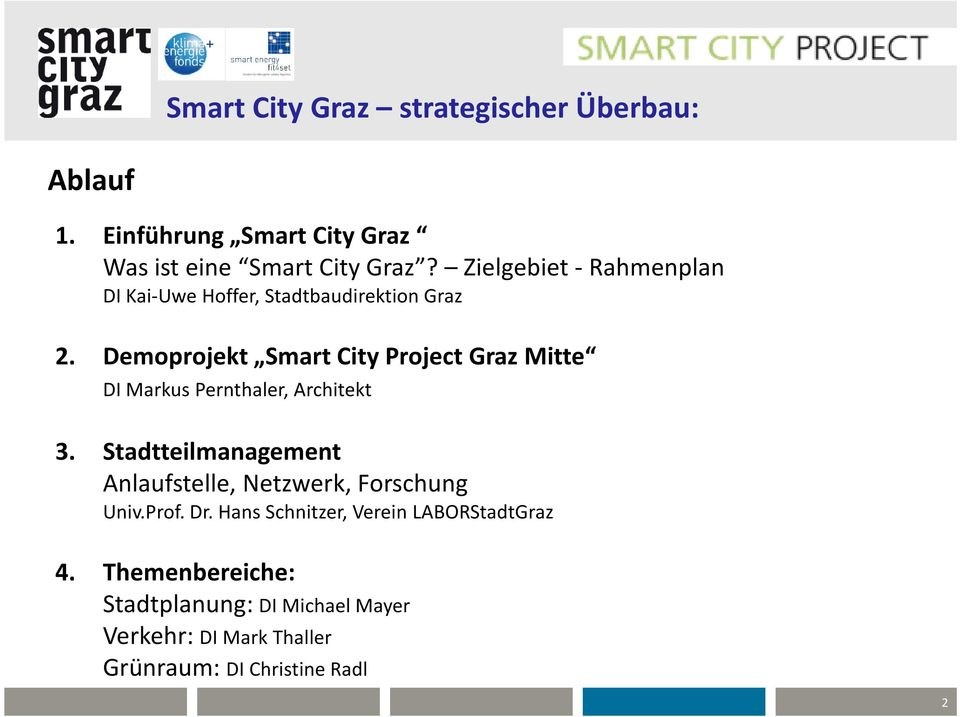 Demoprojekt Smart City Project Graz Mitte DI Markus Pernthaler, Architekt 3.