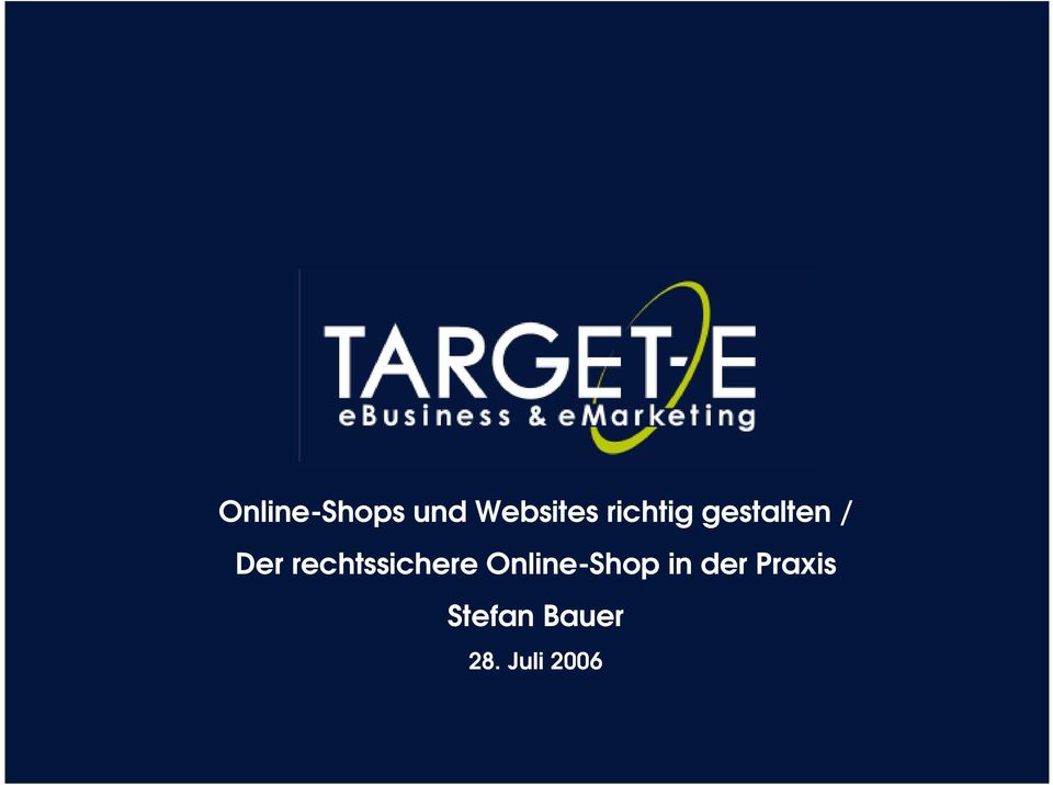 rechtssichere Online-Shop in