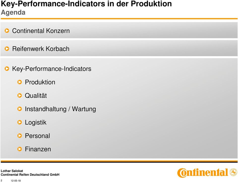 Key-Performance-Indicators Produktion