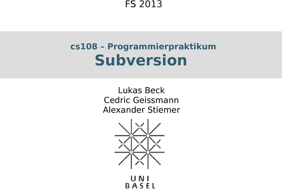 Subversion Lukas