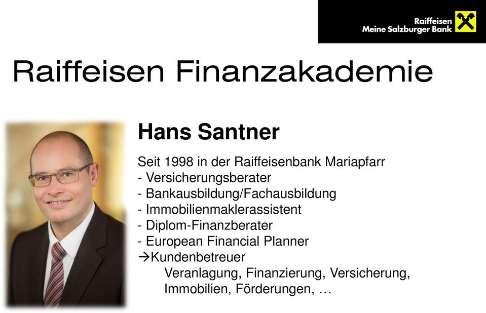 Immobilienmaklerassistent - Diplom-Finanzberater - European Financial