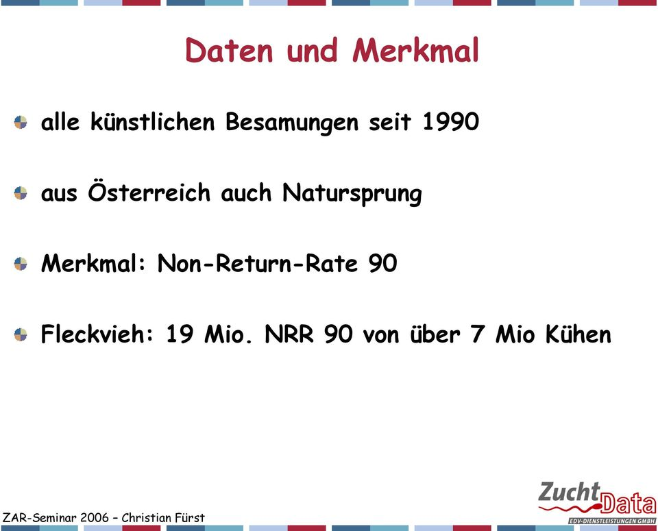 Natursprung Merkmal: Non-Return-Rate 90