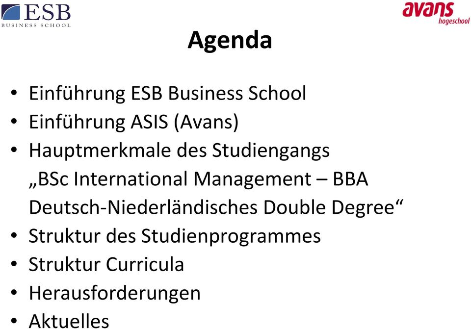 Management BBA Deutsch-Niederländisches Double Degree