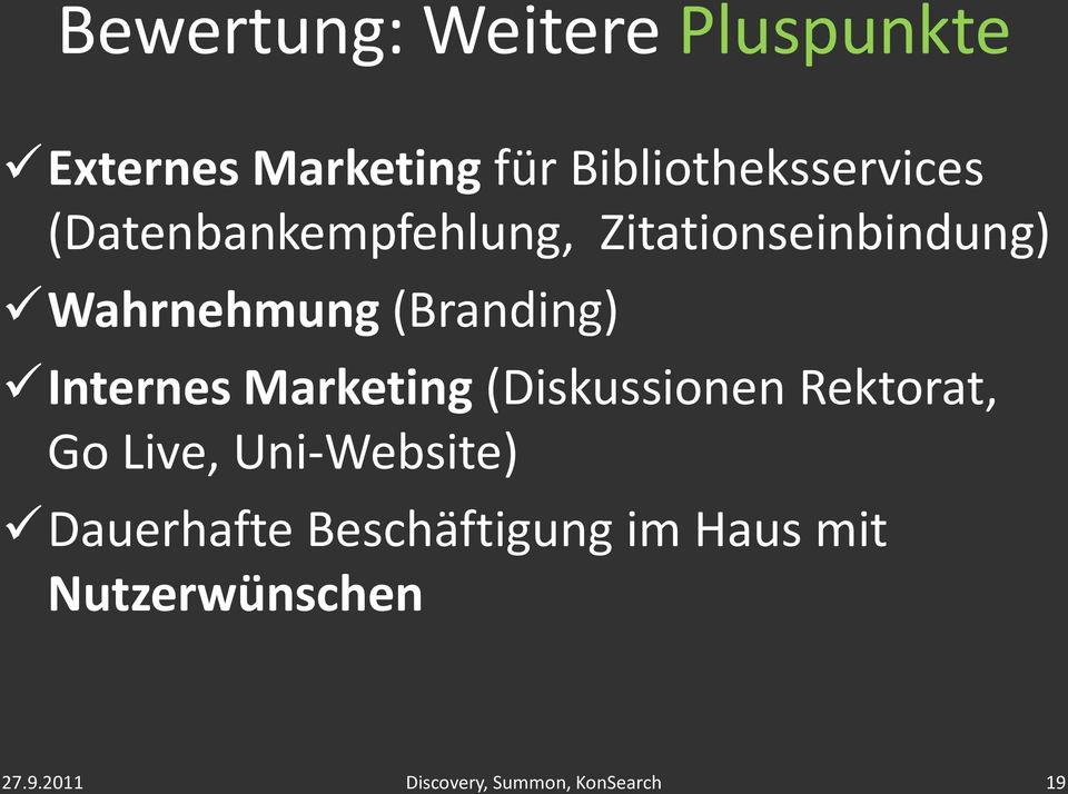 Wahrnehmung (Branding) Internes Marketing (Diskussionen