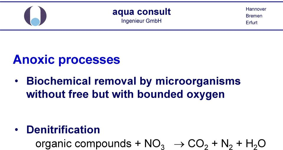 with bounded oxygen Denitrification