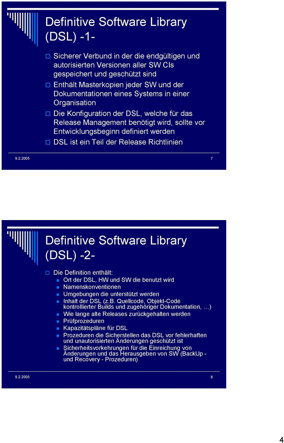 Release Richtlinien 7 Definitive Software Libr