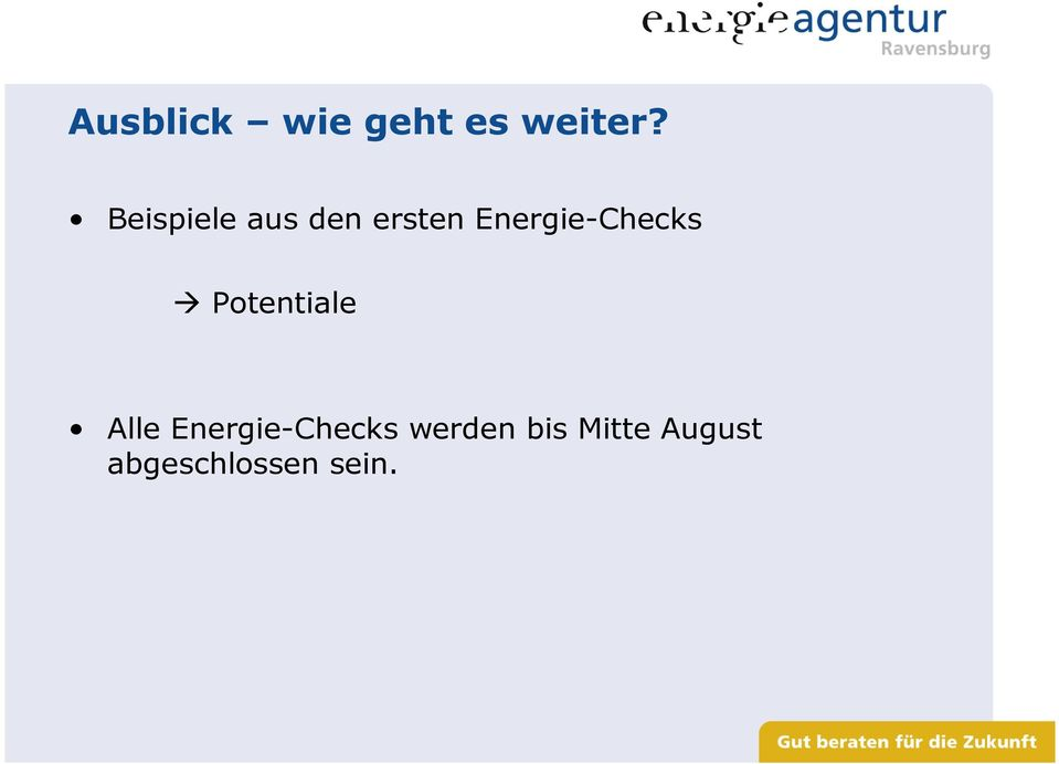 Energie-Checks Potentiale Alle