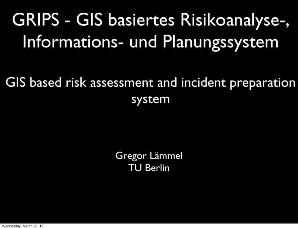 based risk assessment and incident