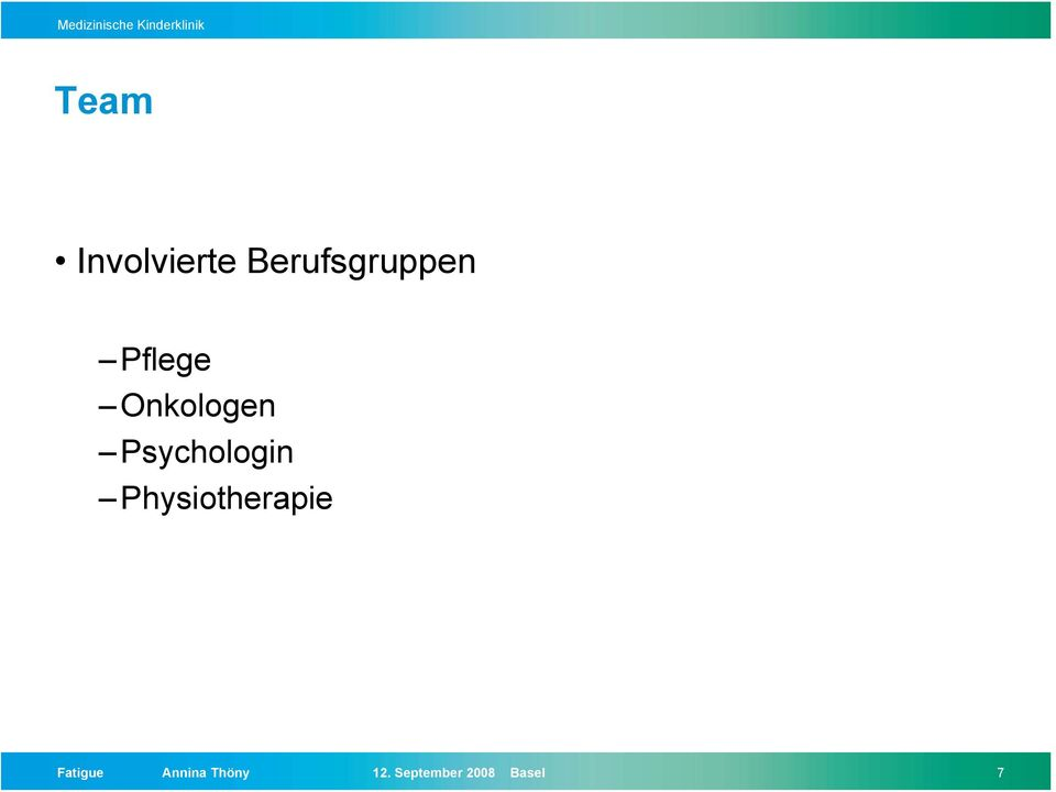 Physiotherapie Fatigue Annina
