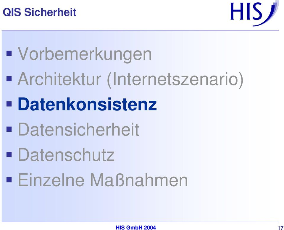 Datenkonsistenz Datensicherheit