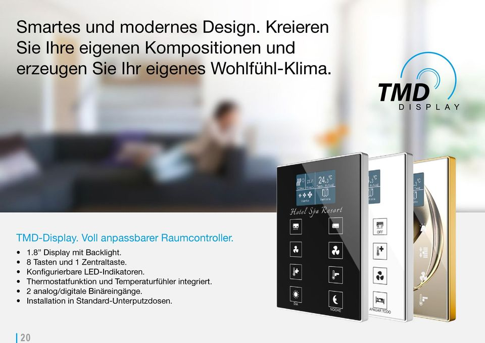 TMD-Display. Voll anpassbarer Raumcontroller. 1.8 Display mit Backlight.