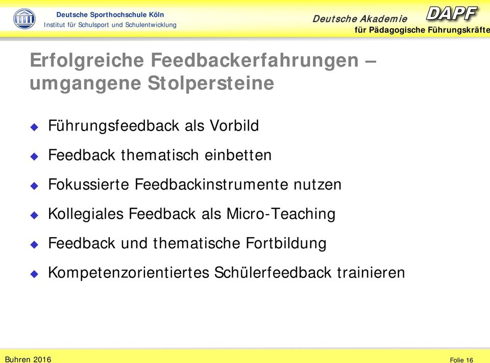 Feedbackinstrumente nutzen Kollegiales Feedback als Micro-Teaching