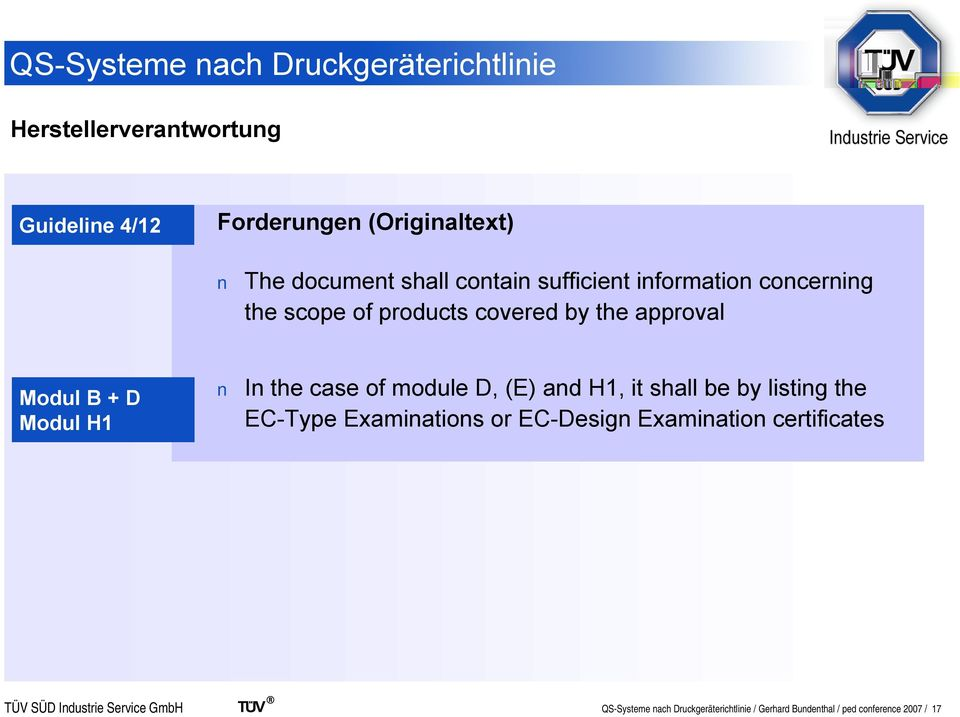 module D, (E) and H1, it shall be by listing the EC-Type Examinations or EC-Design Examination