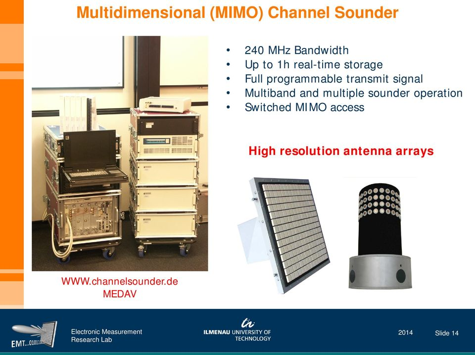 Multiband and multiple sounder operation Switched MIMO access