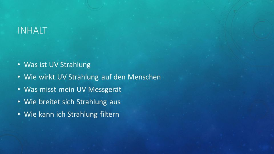 energie uv strahlung