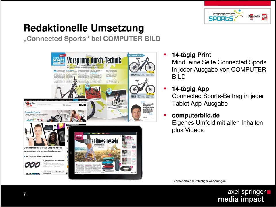 App Connected Sports-Beitrag in jeder Tablet App-Ausgabe computerbild.