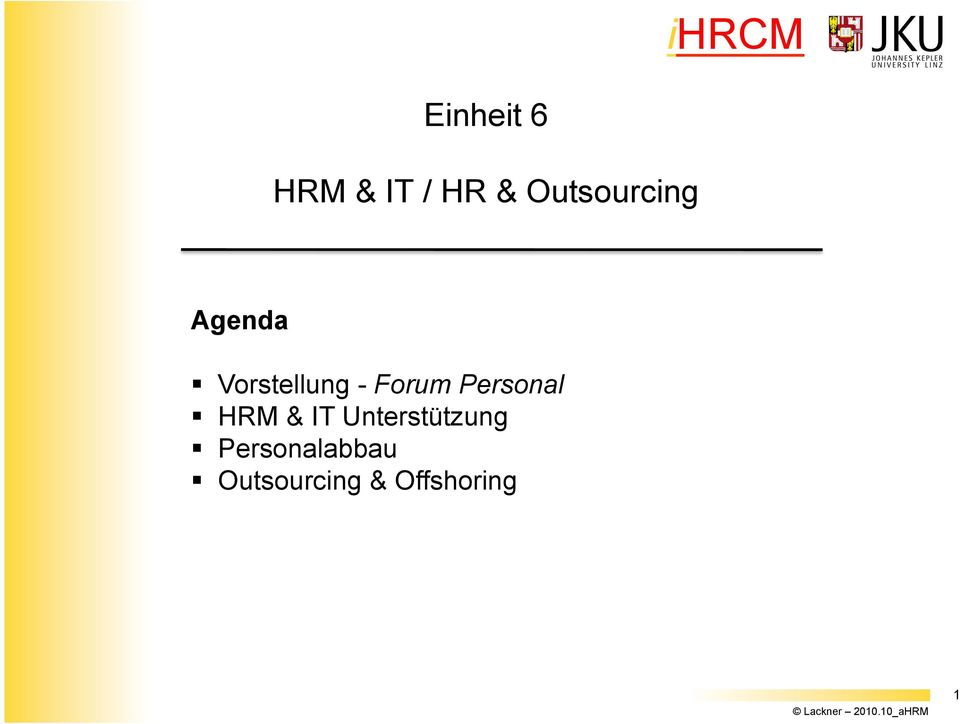 Forum Personal HRM & IT