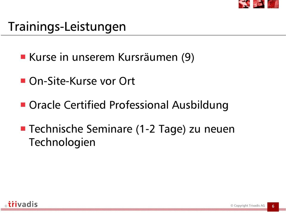 Oracle Certified Professional Ausbildung