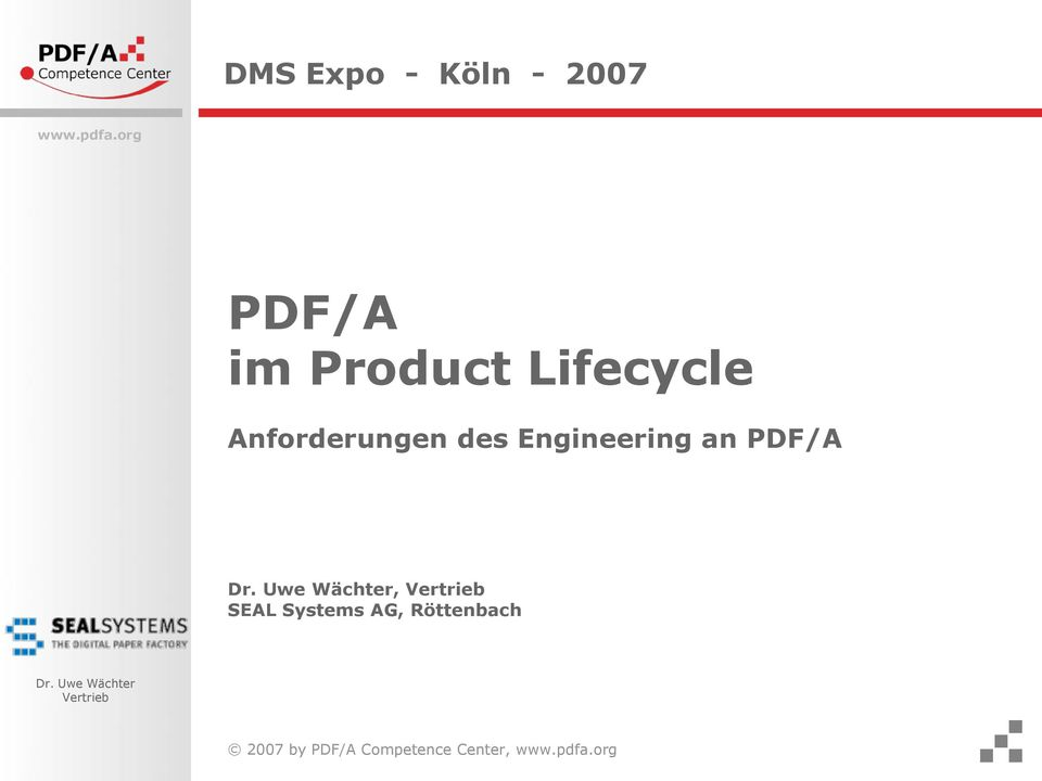 Engineering an PDF/A, SEAL Systems