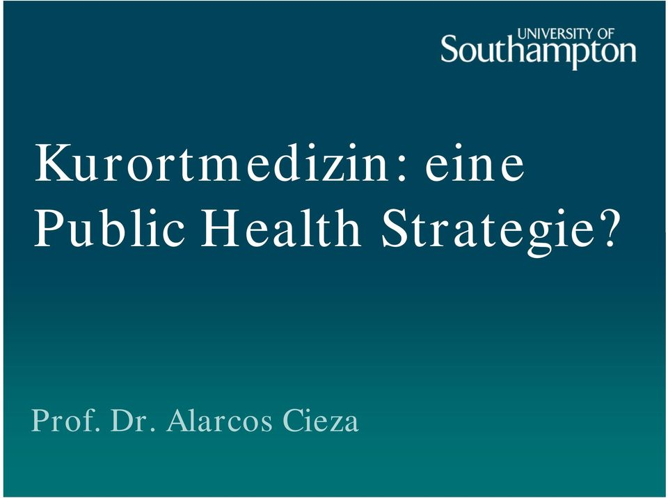 Health Strategie?