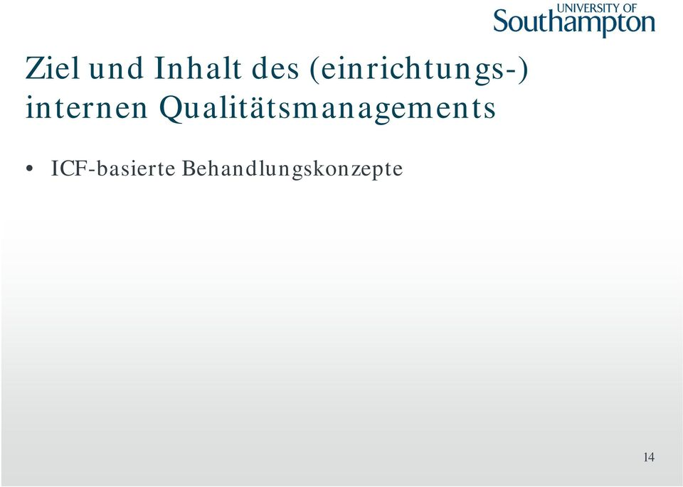 Qualitätsmanagements