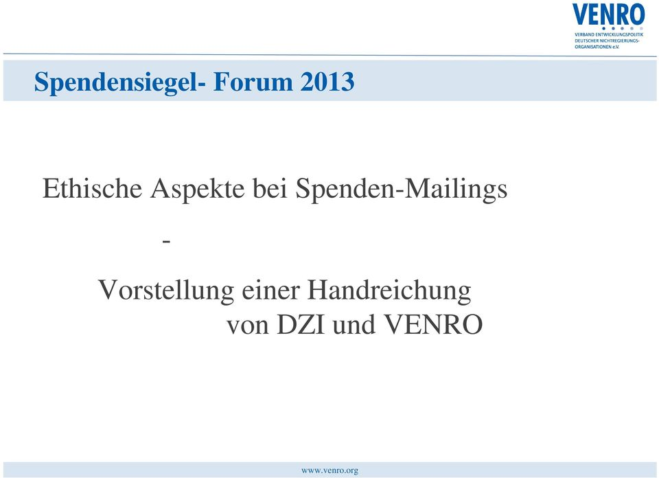 Spenden-Mailings -