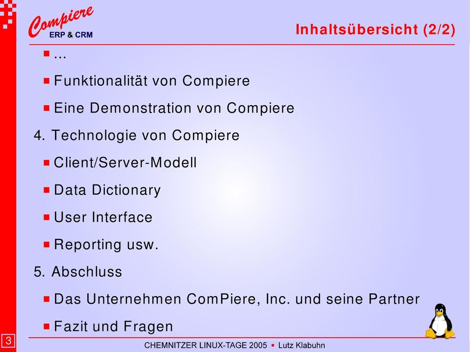 Technologie von Compiere Client/Server M odell Data Dictionary