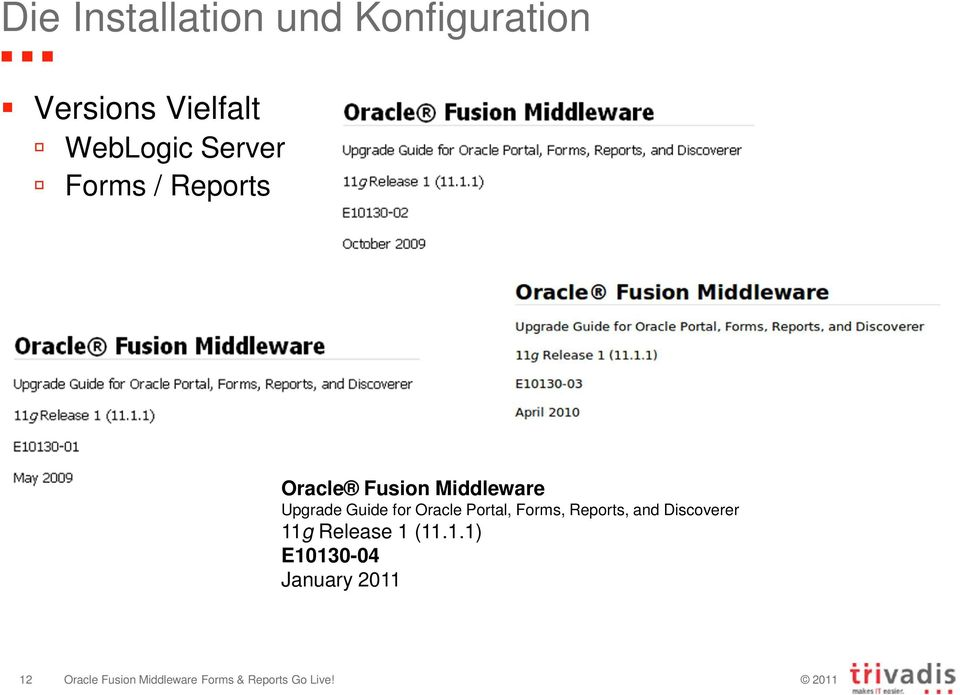 Middleware Upgrade Guide for Oracle Portal, Forms,