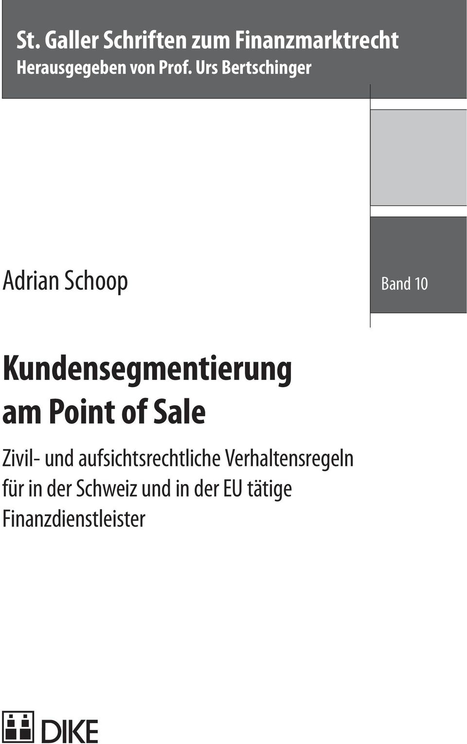 Kundensegmentierung am Point of Sale Zivil- und