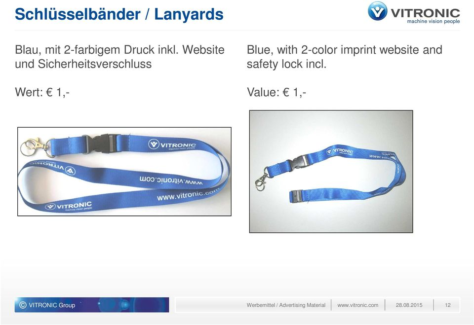 2-color imprint website and safety lock incl.