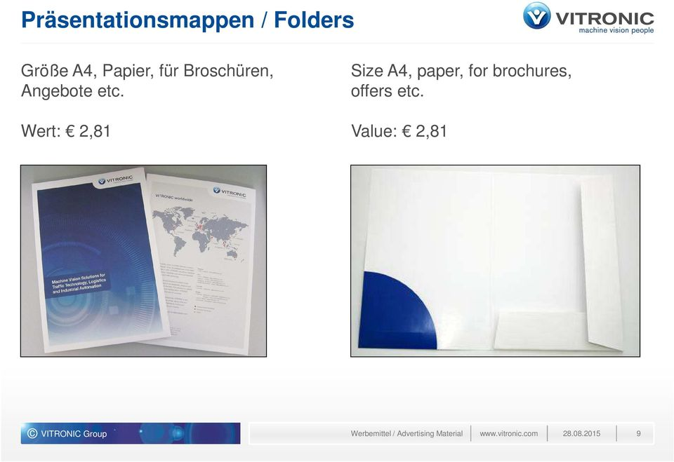 Wert: 2,81 Size A4, paper, for brochures, offers