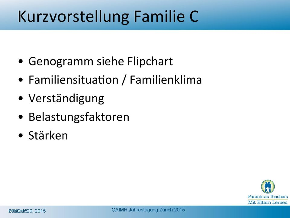 on / Familienklima Verständigung