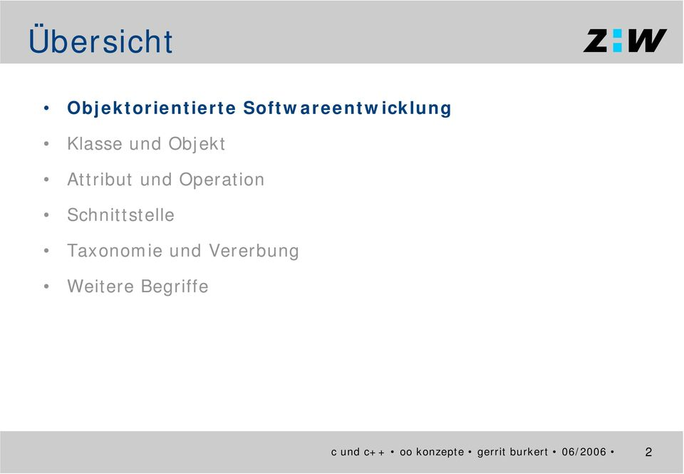 Objekt Attribut und Operation
