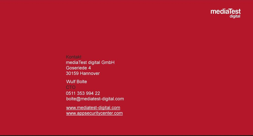 994 22 bolte@mediatest-digital.com www.