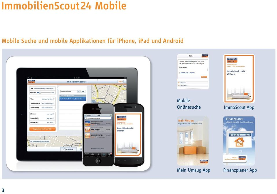 ipad und Android 3 Mobile Onlinesuche