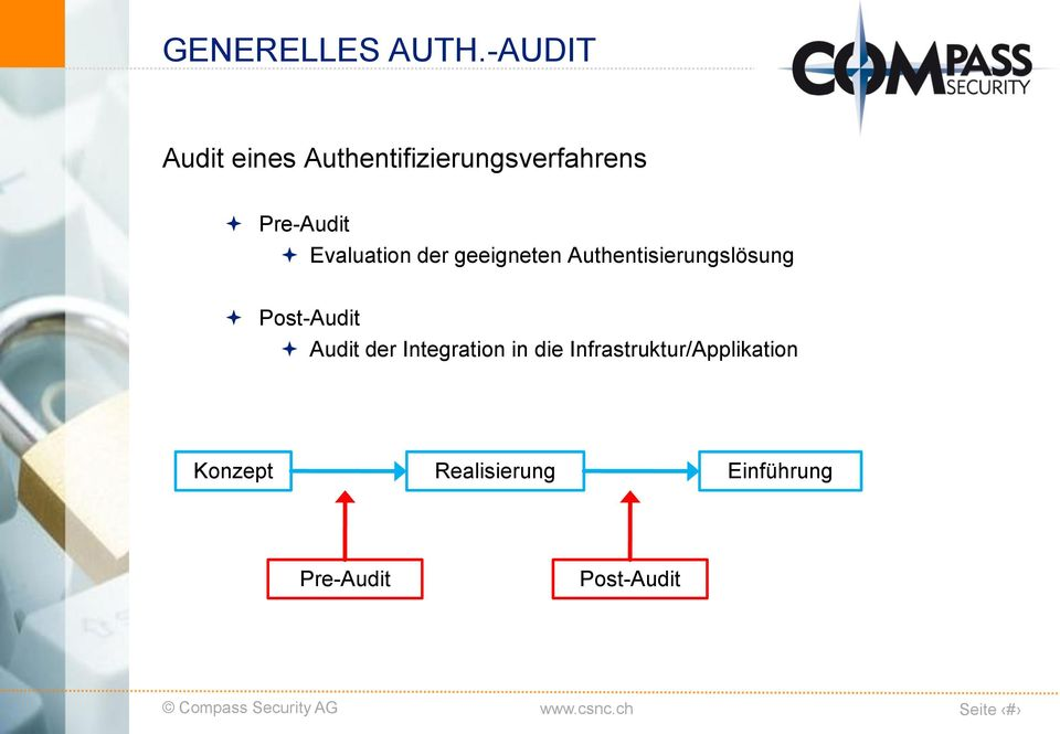 Evaluation der geeigneten Authentisierungslösung Post-Audit