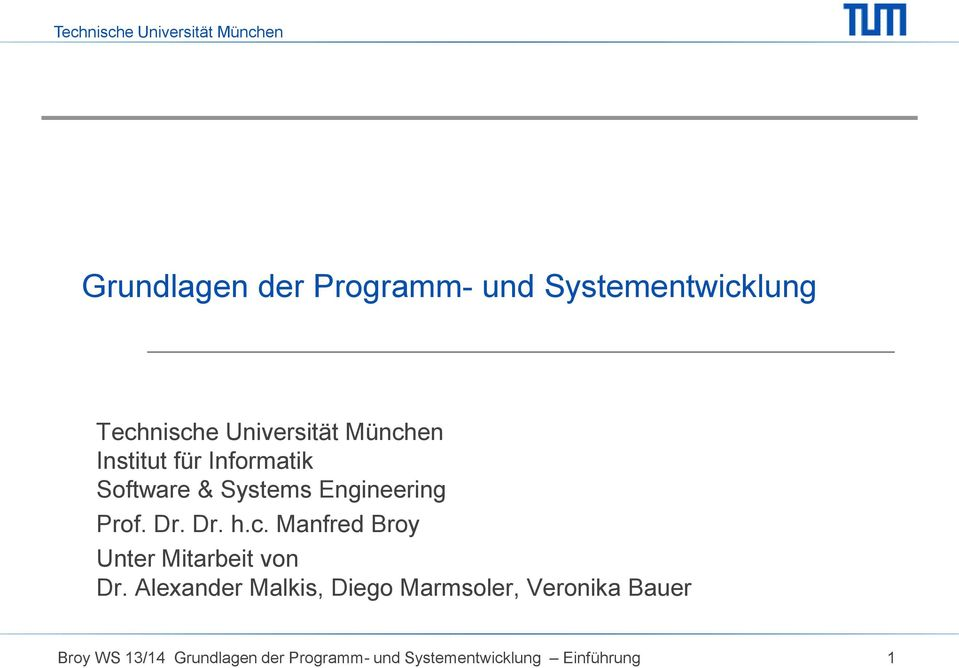 Systems Engineering Prof. Dr. Dr. h.c.