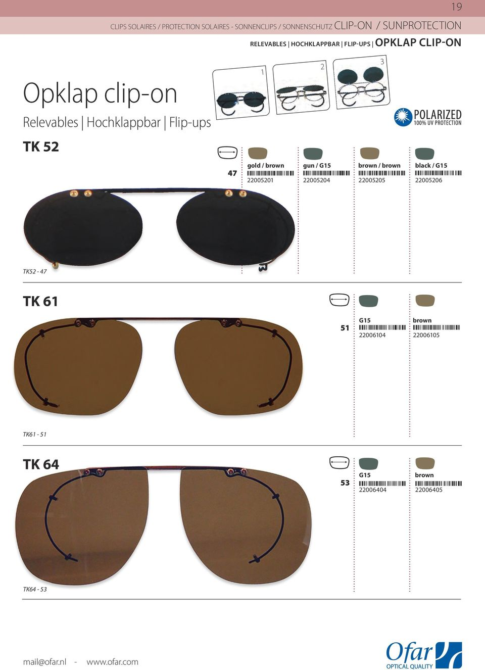 Clip-On Collection. Collection Clips Solaires Sonnenclips Kollektion ...