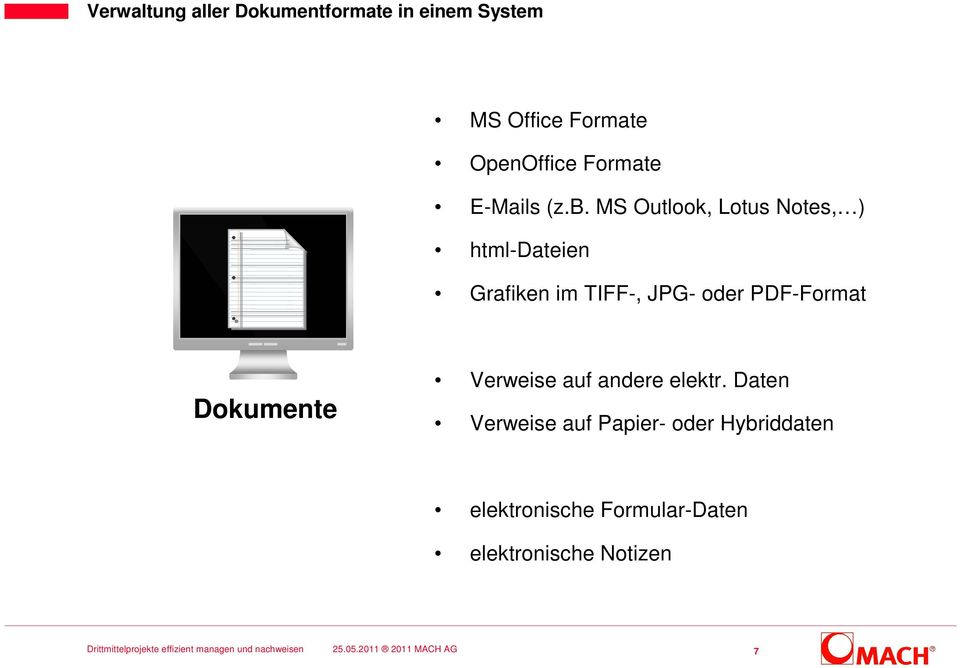 MS Outlook, Lotus Notes, ) html-dateien Grafiken im TIFF-, JPG- oder
