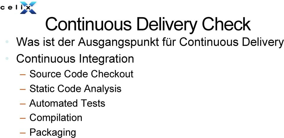 Continuous Integration Source Code Checkout