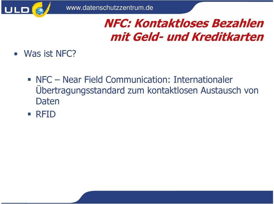 Kreditkarten NFC Near Field Communication: