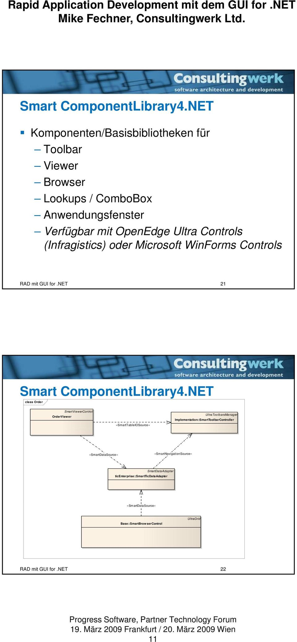 (Infragistics) oder Microsoft WinForms Controls RAD mit GUI for.