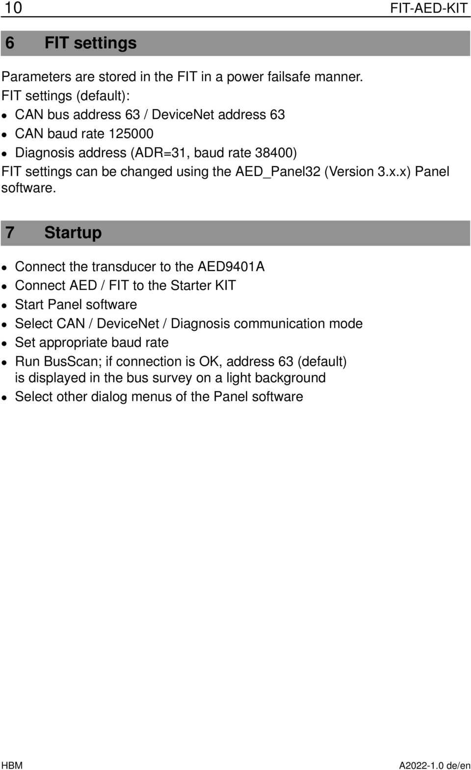 the AE_Panel32 (Version 3.x.x) Panel software.