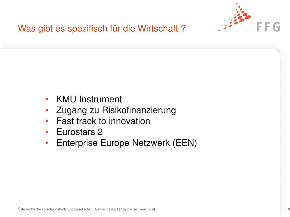innovation Eurostars 2 Enterprise Europe Netzwerk (EEN)