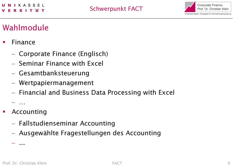 Data Processing with Excel Accounting Fallstudienseminar Accounting
