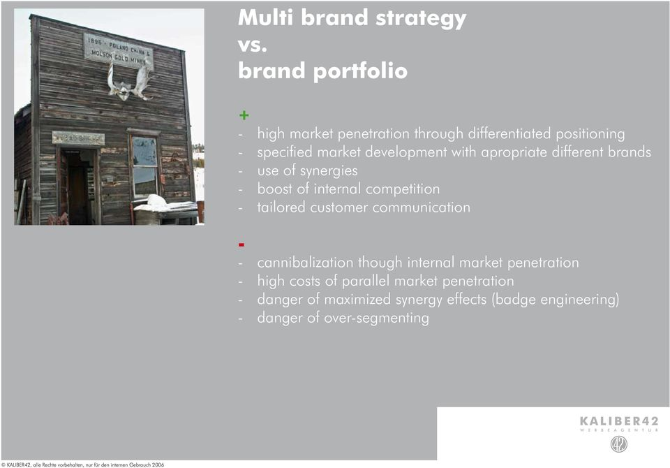 with apropriate different brands - use of synergies - boost of internal competition - tailored customer