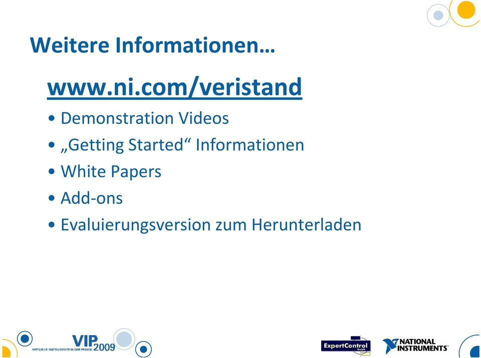Getting Started Informationen White
